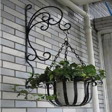 Novelty Rustic Multi Layer Fashion Iron Flower Stand Balcony Indoor French Pot Holder Hanging
