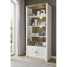 lomadox aktenschrank pisa 61 esszimmer regalschrank im landhausstil in pinie weiß und eiche hell mit led b h t ca 90 198 43 cm kaufen