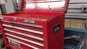 Quick Craftsman Tool Box Restoration - YouTube The Images Collection Of Tool Storage Box For Pc Organizer Set Craftsman Fullsize Alinum Single Lid Truck Box Shop Your Way 1232252 Black Full Size Crossover 271210 17inch Hand Sears Outlet 26 6drawer Heavyduty Top Chest Whats In My 3 Drawer Toolbox Youtube Boxes At Lowescom Quick Craftsman Tool Restoration Plastic With Drawers Husky Drawer Removal Mobile