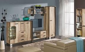 easy möbel wohnzimmer komplett set e sichling 6 teilig farbe eiche braun