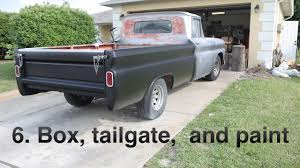 100 Chevy Truck Tailgate 6 Box Tailgate And Paint 1961 Apache Restoration