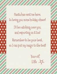Elf Shelf Letter Template