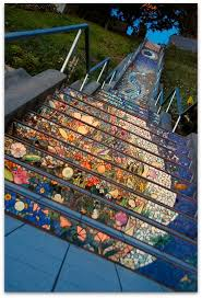16th Avenue Tiled Steps Project by Art Symphony San Francisco U0027s Colorful Mosaic Staircase