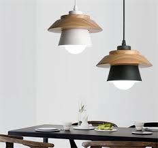 200mm x 120mm holz eisen hut pendelleuchte schwarz weiß holz hängeleuchte mit wohnzimmer beleuchtung home cafe shop dekoration