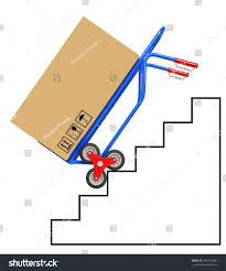 Stair Climbing Hand Truck Package On Stock Illustration 584556580 ...