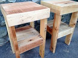 Stand With Bed Headboard U S Bed Pallet Wood Night Stand
