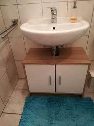 waschbeckenunterschrank für s bad weiß sonoma eiche
