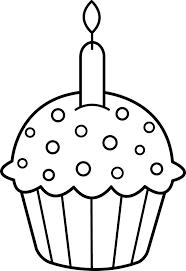 Drawn birthday birthday cupcake 6