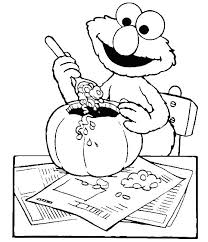 Elmo Is Open Odd Food Coloring Page