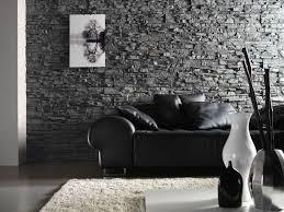 steinwände in natursteinoptik steinwand wohnzimmer