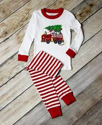 100 Fire Truck Pajamas Holiday Two Piece Pajama Set This Is One Of Our Most