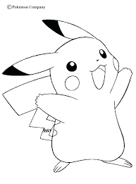 Pikachu Printable Coloring Pages Happy Page More Sheets On Cute