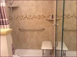 walk in shower installation walk thru shower grab bars