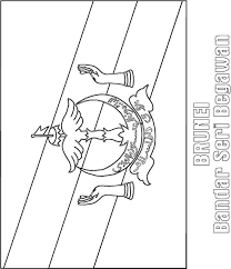 Brunei Flag Coloring Page