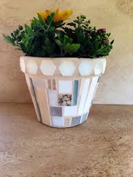 A Personal Favorite From My Etsy Shop Indoor Herb PlantersMosaic Flower PotsTerracotta PotsMosaic IdeasRustic