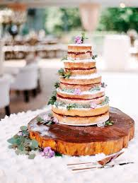 Five Tier Naked Cake With Raspberry Jam