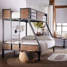 jennell industrial twin over double metal wood bunk bed from sears