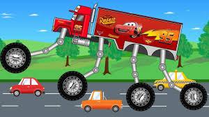 Big Mcqueen Truck - Monster Trucks For Children - Kids Video