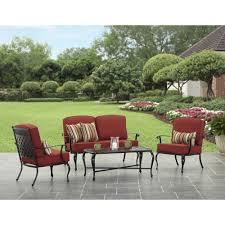 Walmart Patio Cushions Better Homes Gardens by Better Homes And Gardens Dawn Hill 4 Piece Aluminum Conversation
