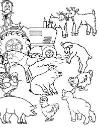 Full Image For Free Farm Animal Coloring Book Pages Printable 684320