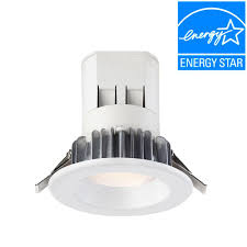 globe electric 4 in white recessed outdoor baffle lighting kit