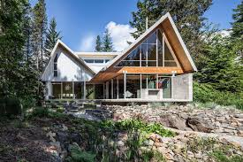 100 Mountain House Designs Home With Engineered Glulam Structure As Main Design Feature