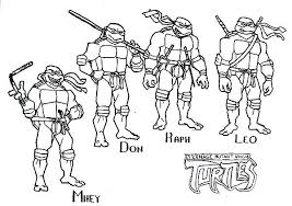 Tmnt Coloring Pages 1