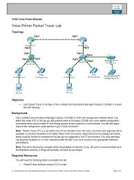 Voice Primer Packet Tracer Lab | Cisco Certifications | Ip Address