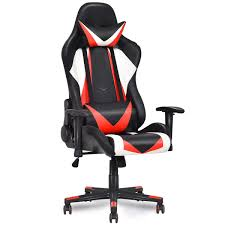 GTX Orange Gaming Chair High Back Color Block Foot Rest