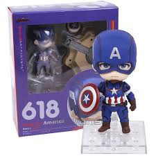 Nendoroid Captain America Heros Edition Avengers Age Of Ultron 618 PVC Action Figure Collectible Model