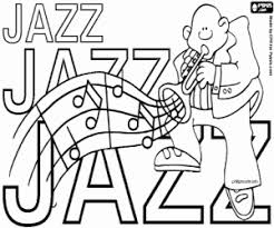 Jazz Coloring Pages International Day World Printable 4