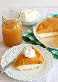 Pumpkin Pie Without Crust Healthy by Double Layer No Bake Pumpkin Cheesecake