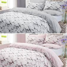 Marble Duvet Cover with Pillow Case Bedding Set Single Double King