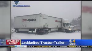 Jack-Knifed Tractor Trailer Closes Mass Pike East « CBS Boston Hwy 2 North Car Semi Truck Route 1 Closed After Truck Jackknifes In West Bath Centralmainecom Mass Pike Sees Multiple Jackknifed Ctortrailer Trucks Wjar Hazmat Responds To On I65 Franklin What If A Semi Truck Jackknifes Lowry Associates Jackknifed Tractor Trailer Closes East Cbs Boston During Storm Western Advocate Big Rig I40 Crash Volving Abc11com Jackknifed Tractor Trailer I91 New Haven Connecticut And Causing Traffic Delays Red Deer Express Slip Slidin Away News Sports Jobs Messenger