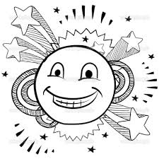 Happy Face Coloring Page At Smiley Pages With