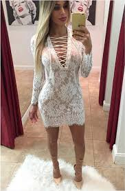 2015 club women dress wholesale bandage dress short white lace