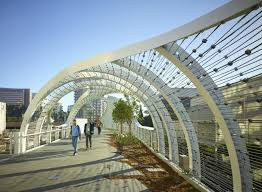 100 Long Beach Architect Waveinspired Rainbow Bridge In Is Covered In