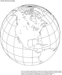 North America Printable Globe Perfect For A School Or Craft Project Download And Print