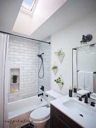 small bathroom remodel with velux skylights inspiration