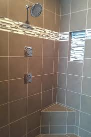 photos hgtv contemporary taupe tile shower with horizontal mosaic