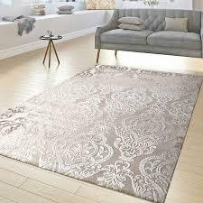 moderner wohnzimmer teppich ornamente muster kurzflor