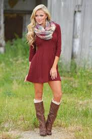 meeting the parents sweater dress burgundy candy boutique