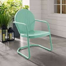 Amazon.com : Crosley Furniture Griffith Metal Patio Chair In Aqua ... Crosley Griffith Outdoor Metal Five Piece Set 40 Patio Ding How To Paint Fniture Best Pick Reports Details About Bench Chair Garden Deck Backyard Park Porch Seat Corentin Vtg White Mid Century Wrought Iron Ice Cream Table Two French White Metal Patio Chairs W 4 Chairs 306 Mainstays Jefferson Rocking With Red Choosing Tips For At Lowescom