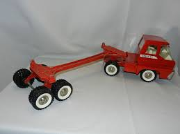 100 Structo Toy Truck Vintage Pressed Steel Log Hauler S