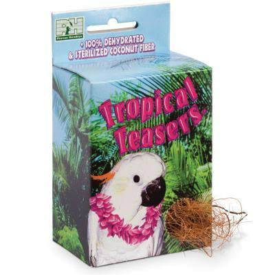 Prevue Pet Products Tropical Teasers 100% Dehydrated & Sterilized Coconut Fiber