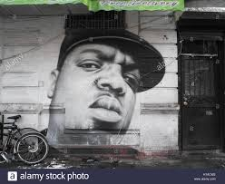 Big Ang Mural Brooklyn by A Mural Of The Deceased Us Rapper Notorious B I G Photographed