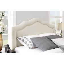 bedding tufted frame ana white diamond headboard with nailhead