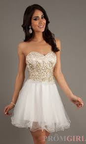 short beaded ivory dress by dave and johnny 9269 homecoming