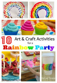 10 Art And Craft Activities For A Rainbow Party