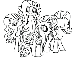 Mlp Coloring Pages My Little Pony Applejack And Rainbow Dash